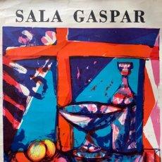 Arte: CARTEL LITOGRÁFICO SALA GASPAR 1972 MIGUEL IBARZ. Lote 259232230