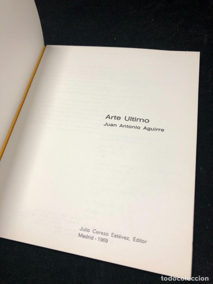 """Arte: Arte Último, La """"Nueva Generación"""" en la escena española. Juan Antonio Aguirre. 1969 1ª edición - Foto 3 - 259756445"""