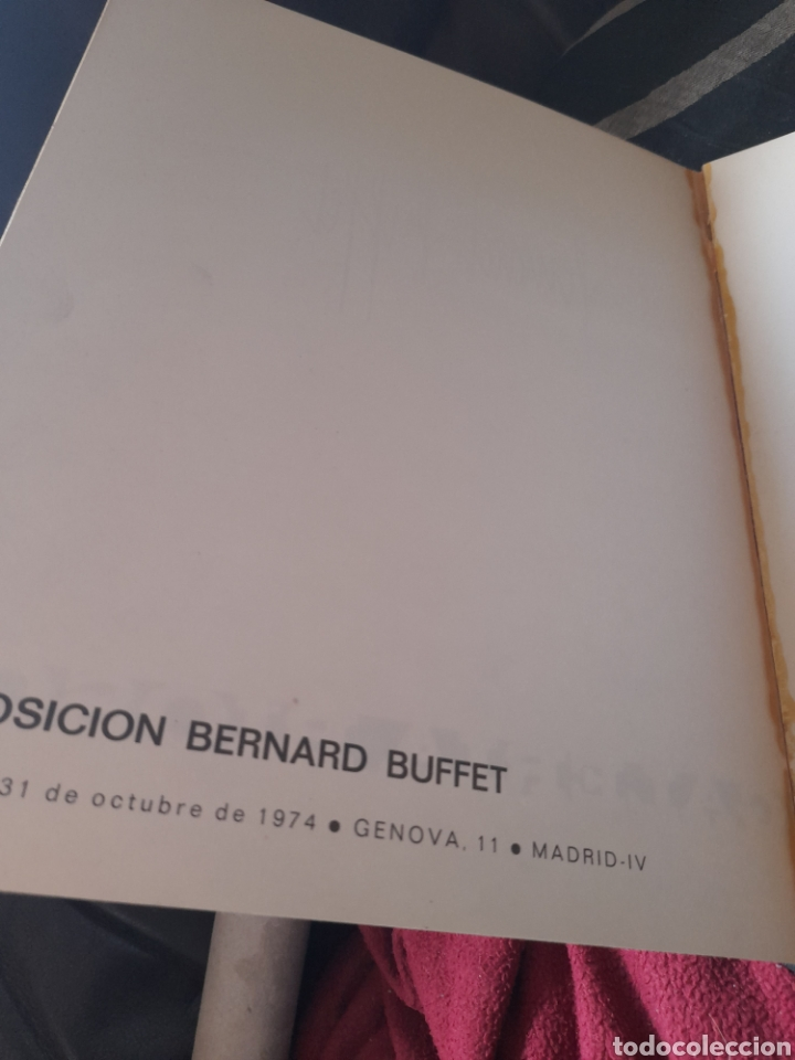Arte: Catálogo de la Exposición de Bernard Buffet,Galería Biosca 1974 - Foto 3 - 259859460