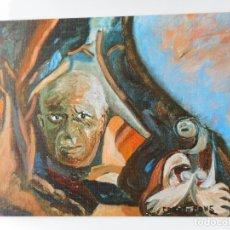 Arte: ANTIGUA TARJETA.EXPOSICION PINTURA.CARMEN FONS.ZARAGOZA.PALACIO CONGRESOS HUESCA.ZARAGOZA 1980. Lote 263072455
