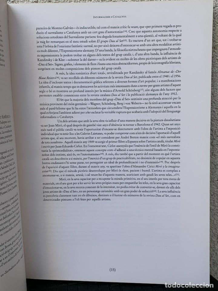 Arte: LIBRO INFORMALISME A CATALUNYA PINTURA 1990 ED PLANETA BARCELONA 30X21CMS - Foto 6 - 267904499
