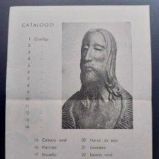 Arte: LEANDRE CRISTOFOL LLEIDA CATALOGO EXPOSICION ZARAGOZA 1957. Lote 273725098