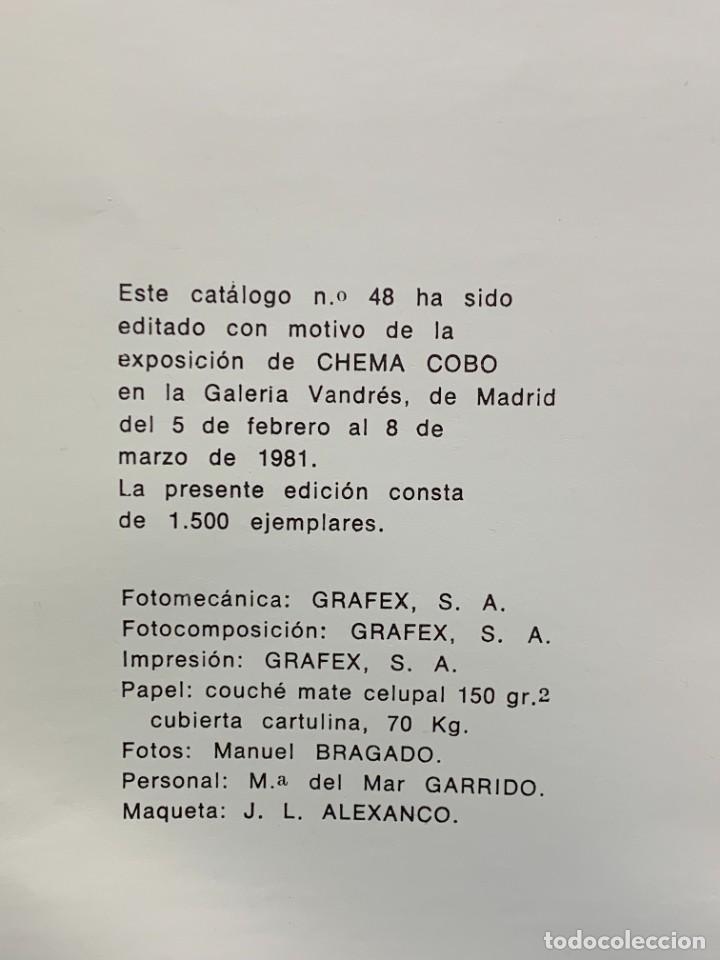 Arte: CHEMA COBO PINTURAS DIBUJOS ACURELAS 1977-81 MADRID 1981 30X21CMS - Foto 6 - 274243128
