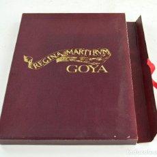 Art: REGINA MARTIRUM GOYA, 1982, BANCO ZARAGOZANO, EDICIÓN ESPECIAL, ZARAGOZA. 31X25CM. Lote 275211118