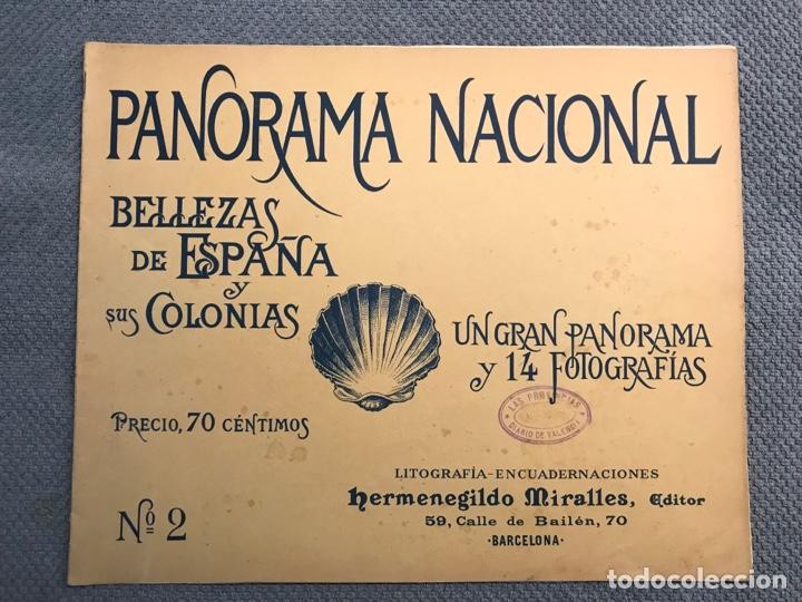 PANORAMA NACIONAL BELLEZAS DE ESPAÑA Y SUS COLONIAS, NO.2, H. MIRALLES, BARCELONA (H.1890?) (Arte - Catálogos)