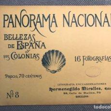 Arte: PANORAMA NACIONAL BELLEZAS DE ESPAÑA Y SUS COLONIAS, NO.8, H. MIRALLES, BARCELONA (H.1890?). Lote 278699128