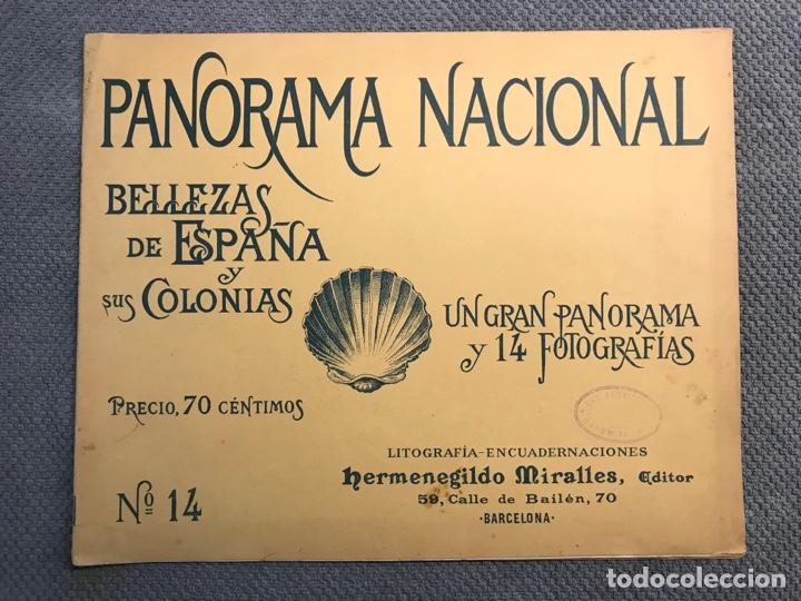 PANORAMA NACIONAL BELLEZAS DE ESPAÑA Y SUS COLONIAS, NO.14, H. MIRALLES, BARCELONA (H.1890?) (Arte - Catálogos)