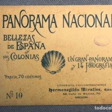 Arte: PANORAMA NACIONAL BELLEZAS DE ESPAÑA Y SUS COLONIAS, NO.10, H. MIRALLES, BARCELONA (H.1890?). Lote 278701688