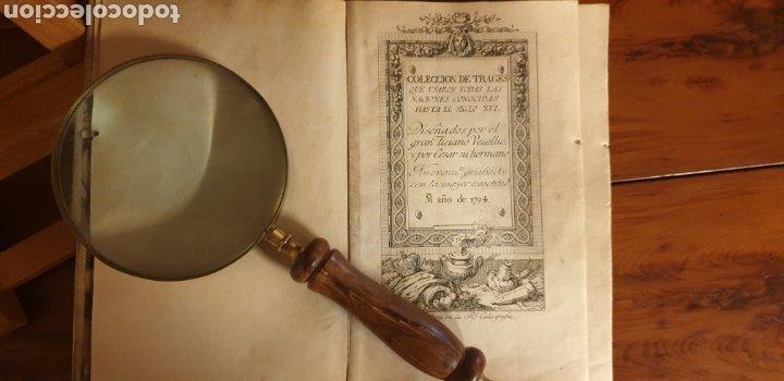 LIBRO-CATÁLOGO DE TRAJES DE LA ANTIGUEDAD (Arte - Catálogos)