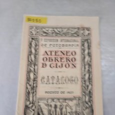 Arte: 50050 - V EXPOSICION INTERNACIONAL DE FOTOGRAFIA , ATENEO OBRERO DE GIJON - CATALOGO - AGOSTO 1927. Lote 288460338