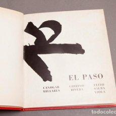 Arte: EL PASO - CANOGAR, MILLARES, CHIRINO, RIVERA, FEITO, SAURA, VIOLA - GALERIA RENE METRAS - 1974. Lote 296709938