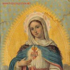 Arte: DULCE CORAZON DE MARIA - CROMOLITOGRAFIA S.XIX. Lote 33091107