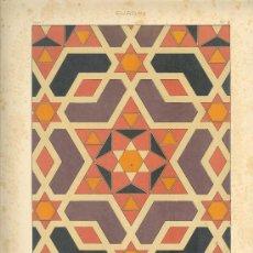 Arte: UXG CROMOLITOGRAFIA C. 1890 J. ALEU EUROPA ARTE DECORATIVO MOSAICO SIGLO XII MUY RARA. Lote 24604213