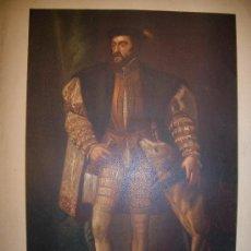 Arte: CARLOS V. REYES ESPAÑOLES. CROMOLITOGRAFÍA. S.XIX.. Lote 10956293