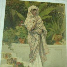 Arte: CROMOLITOGRAFÍA DE FINALES DEL SIGLO XIX. BRASIL. MUJER DE BAHÍA. FIRMADO A. PEREA. Lote 19358933
