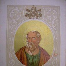 Arte: SAN FABIÁN. PAPA DE LA IGLÉSIA CATÓLICA. CROMOLITOGRAFÍA.. Lote 13681742