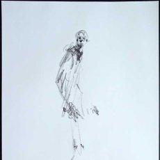 Art: ALBERTO GIACOMETTI / HOMBRE II . CROMOLITOGRAFÍA SEGÚN ORIGINAL DE 1968. Lote 26295084