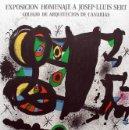 Arte: MIRÓ CARTEL HOMENAJE A JOSEP-LLUIS SERT 1972 FIRMADO EN PLACHA COLEGIO ARQUITECTOS CANARIAS TENERIFE. Lote 93110408