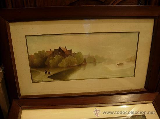Arte: PAREJA DE ACUARELAS ENMARCADAS ACUARELA - Foto 2 - 75100625