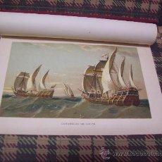 Arte: BARCOS - CROMOLITOGRAFÍA 1889 - CARABELAS DE COLÓN - 22,5 X 15 CM. . Lote 23525845