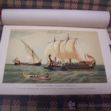 Arte: BARCOS - CROMOLITOGRAFÍA 1889 - EMBARCACIONES ROMANAS PRIMITIVAS - 22,5 X 15 CM. . Lote 23525928