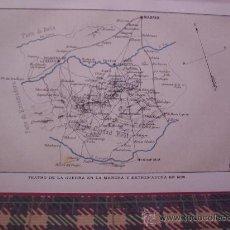 Arte: MAPAS -CROMOLITOGRAFÍA 1889- MAPA 1ª GUERRA CARLISTA EN LA MANCHA Y EXTREMADURA EN 1836- 27 X 22 CM.. Lote 23527698