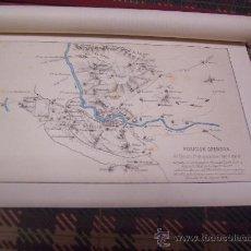 Arte: PLANOS -CROMOLITOGRAFÍA 1889 -1ª GUERRA CARLISTA - PLANO MILITAR - 27 X 22 CM.. Lote 27362516