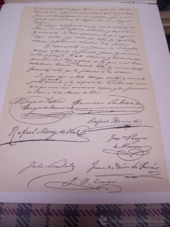 CROMOLITOGRAFÍA 1889 - 1ª GUERRA CARLISTA - FACSIMIL DE MANUSCRITO - 22.5 X 27 CM (Arte - Cromolitografía)