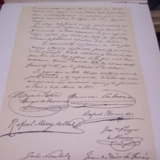 Arte: CROMOLITOGRAFÍA 1889 - 1ª GUERRA CARLISTA - FACSIMIL DE MANUSCRITO - 22.5 X 27 CM. Lote 23535546