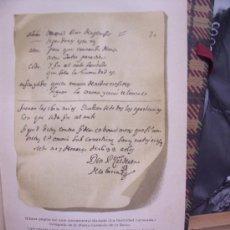 Arte: CROMOLITOGRAFÍA 1889 - HOLÓGRAFO DE D. PEDRO CALDERÓN DE LA BARCA - 15 X 22.5 CM. Lote 23536374