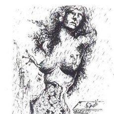 Arte: DALÍ LA MODELO IMPOSIBLE REPRODUCCÓN OBRA IMPRESIÓN DIGITAL ARCHES FRANCE NUMERADA A LÁPIZ 186/500. Lote 26893539