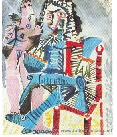 PICASSO MUJER DESNUDA Y MOSQUETERO REPRODUCCÍON OBRA IMPRESIÓN DIGITAL NUMERADA LÁPIZ 291/300 ARCHES (Arte - Cromolitografía)