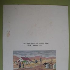 Arte: CROMOLITOGRAFÍA DON QUIJOTE : DON QUIXOTE SOBRE SU BUEN ROCINANTE Y SANCHO … DON QUIJOTE. Lote 28764425