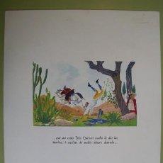 Arte: CROMOLITOGRAFÍA DON QUIJOTE : DON QUIXOTE SOBRE SU BUEN ROCINANTE Y SANCHO … DON QUIJOTE. Lote 28764498