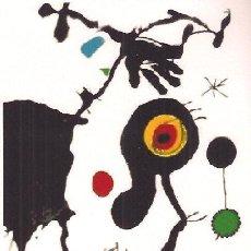 Arte: JOAN MIRÓ / COMPOSICIÓN .REPRODUCCIÓN OBRA IMPRESIÓN DIGITAL NUMERADA A LÁPIZ 221 / 300. Lote 28895899