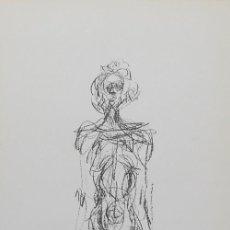 Arte: ALBERTO GIACOMETTI / MUJER DE PIE. CROMOLITOGRAFÍA .. Lote 29707700