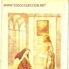 Arte: SANTA TERESA: CROMOGRAFÍA DEL SIGLO XIX. VISIÓN CRISTO. Lote 31089267