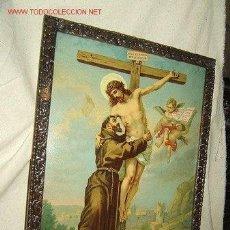Arte: CROMOLITOGRAFIA ANTIGUA CON MARCO PROPIO ANTIGUO. Lote 31103819