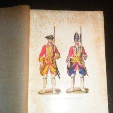 Arte: LAMINA CON UNIFORMES DEL EJERCITO BRITANICO EN 1742 . Lote 34407848