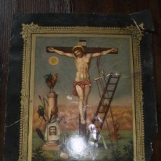 Arte: CROMOGRAFIA S XIX LA PASION DE CRISTO. Lote 47178094