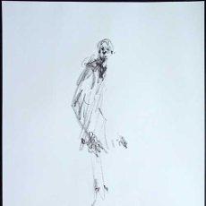 Arte: ALBERTO GIACOMETTI / HOMBRE . CROMOLITOGRAFÍA SEGÚN ORIGINAL DE 1978. Lote 36290657