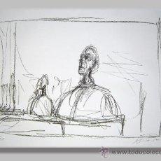 Arte: ALBERTO GIACOMETTI / BUSTOS CROMOLITOGRAFÍA FIRMADA Y NUMERADA 1/30 EN PLANCHA. Lote 46195665