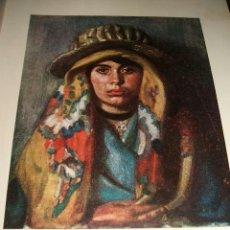 Arte: AVILA UNA MUJER DE AVILA POR LOPEZ MEZQUITA ANTIGUA LAMINA CROMOLITOGRÁFICA AÑOS 20 . Lote 36636838