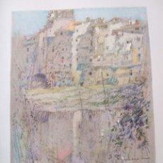 Arte: GERONA GIRONA RIO OÑAR Y CIUDAD CROMOLITOGRAFIA 1925 VISTA ARTISTA INGLES G. EDWARDS. Lote 37174274