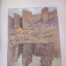 Arte: AVILA LAS MURALLAS CROMOLITOGRAFIA 1925 VISTA ARTISTA INGLES G. EDWARDS. Lote 37174280