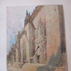 Arte: CORDOBA LA CATEDRAL CROMOLITOGRAFIA 1925 VISTA ARTISTA INGLES G. EDWARDS . Lote 37174527
