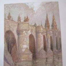 Arte: MADRID PUENTE DE TOLEDO CROMOLITOGRAFIA 1925 VISTA ARTISTA INGLES G. EDWARDS . Lote 37174532