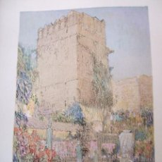 Arte: CORDOBA TORRE ARABE CROMOLITOGRAFIA 1925 VISTA ARTISTA INGLES G. EDWARDS . Lote 37174565