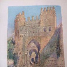 Arte: TOLEDO PUERTA DEL SOL CROMOLITOGRAFIA 1925 VISTA ARTISTA INGLES G. EDWARDS . Lote 37174944