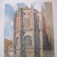 Arte: MURCIA CATEDRAL CROMOLITOGRAFIA 1925 VISTA ARTISTA INGLES G. EDWARDS . Lote 37174952